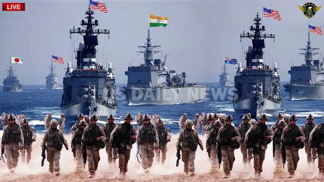 Gabungan Armada Perang Amerika-Australia-Jepang Ancam Militer China