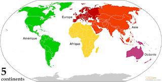 Les 5 continents