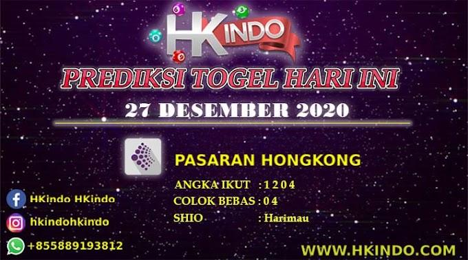 PREDIKSI TOGEL HONGKONG HARI INI 27 DESEMBER 2020