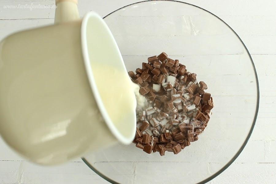 Receta Ganache de chocolate con leche