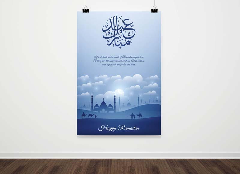Eid Mubarak - Ramadan Kareem Poster PSD Templates
