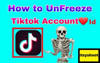 How to unfreeze TikTok Account id.