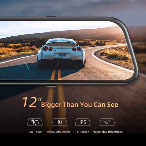 VanTop H612 Touch Screen 2.5K Mirror Dash Cam