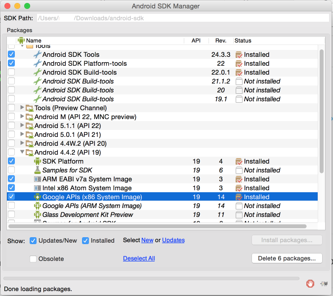 install android sdk on mac mountain lion