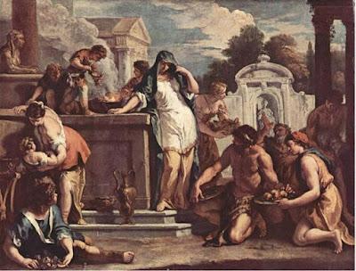 Sacrificio alla dea Vesta di Sebastiano Ricci.