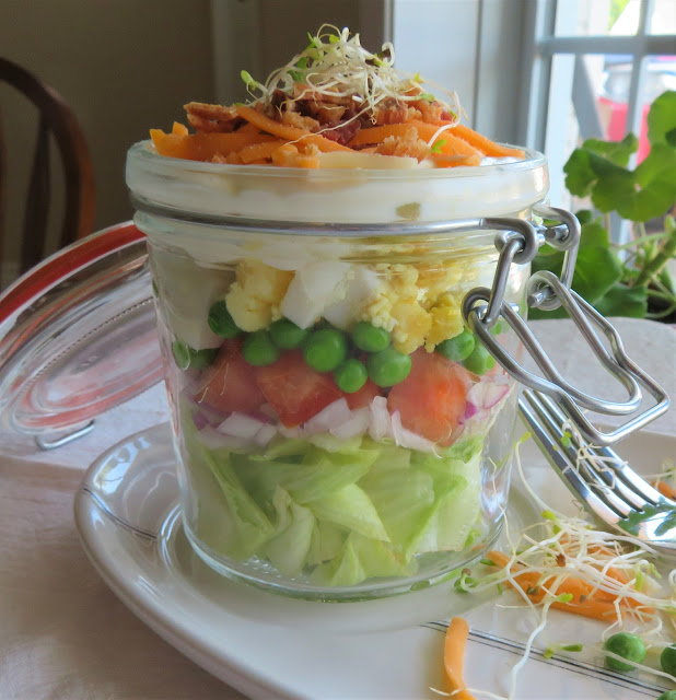 Seven Layer Salad for One