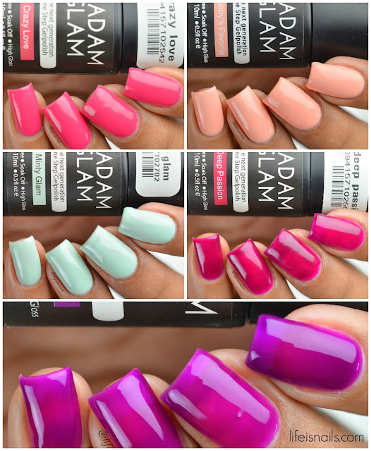 Madam glam gel polishes
