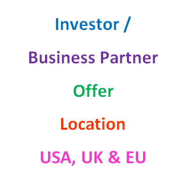 Investor and Business partner wanted