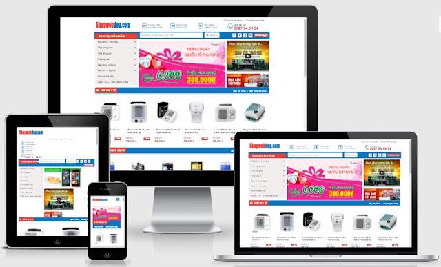 Templates blogspot bán hàng online đẹp nhất 2016