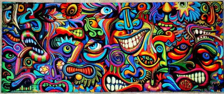Shaka Marchal Mithouard Psychedelic Graffiti Artist