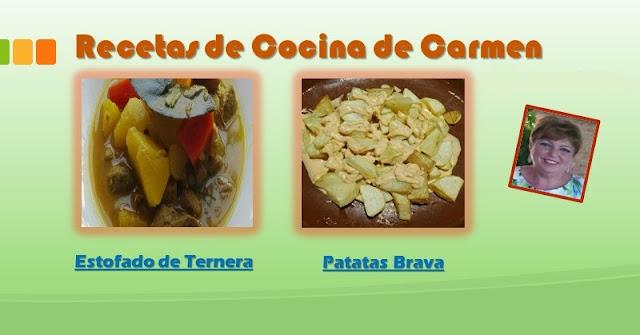 Recetas con Patatas de Carmen