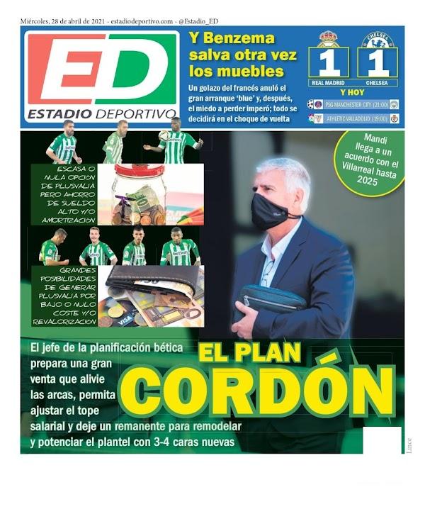 """Betis, Estadio Deportivo: """"El plan Cordón"""""""