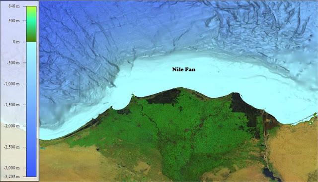 ملف الارتفاع الرقمى للبحرين الاحمر والابيض المتوسط متاحه للتحميل الان