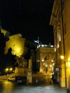 Praça do Capitólio, Roma iluminada