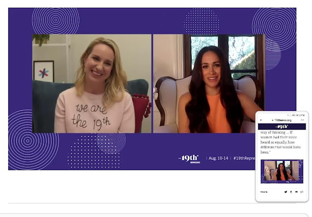 Meghan interviewed Emily Ramshaw today, the CEO and co-founder of the newly launched US news media platform The 19*. Check out the entire interview here, a lovely exchange between two women who take joy in empowering other women.