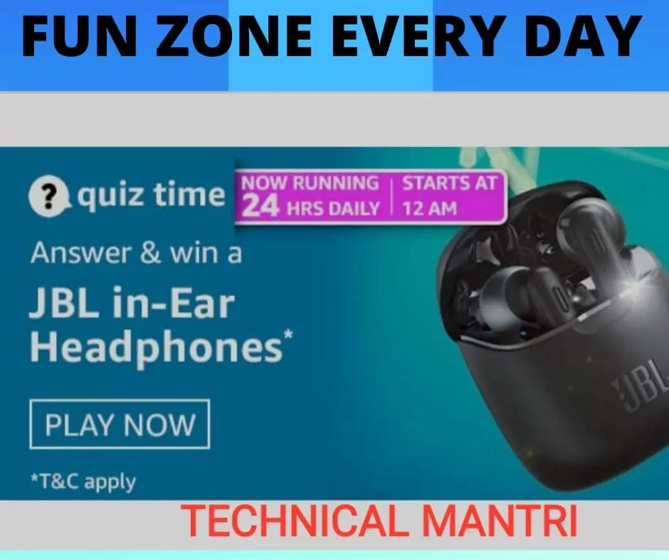 Amazon Quiz : Daily Quiz Time Today  Answer