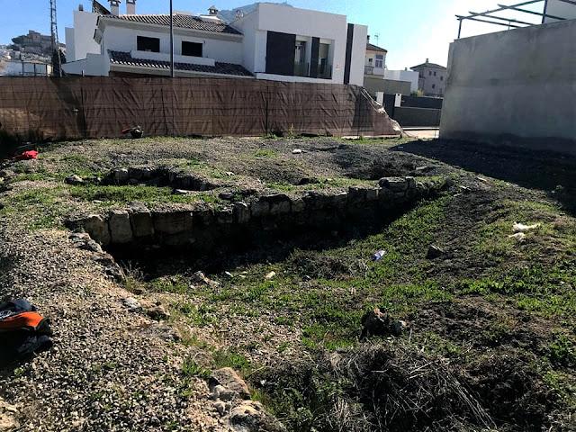 Estado de la basílica paleocristiana de Martos antes de recuperación