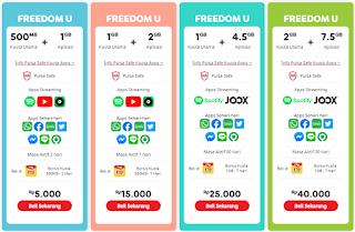 Fredoom U Paket Internet Unlimited Indosat