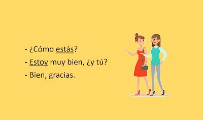 frases com o verbo estar em espanhol