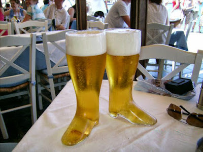 Lieblings Schuhe - großes Bierglas in Form von Stiefel