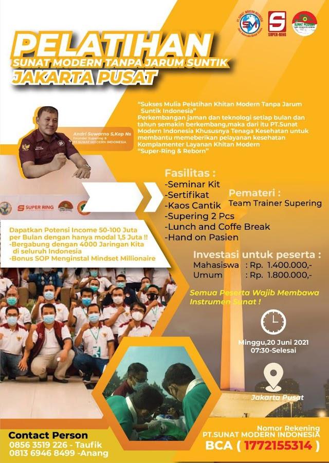 Pelatihan Sunat Modern Tanpa Jarum Suntik Lokasi Jakarta Pusat