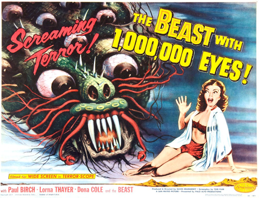 Poster - The Beast with a Million Eyes (1955)