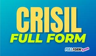 CRISIL Full Form