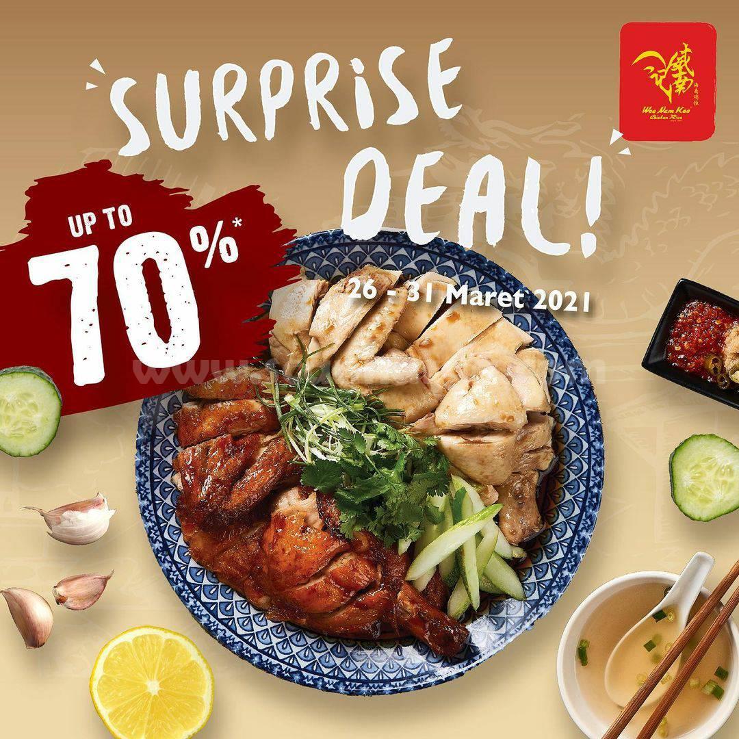 Promo Wee Nam Kee SURPRISE DEAL! Menu Ayam Diskon hingga 70%