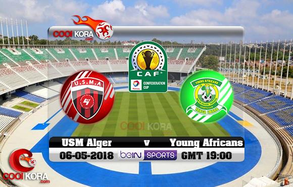مشاهدة مباراة إتحاد الجزائر ويانج أفريكانز اليوم 6-5-2018 كأس الإتحاد الأفريقي