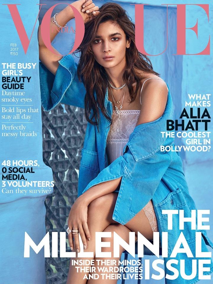 Bollywood Alia Bhatt Hot Vogue India Photo Shoot