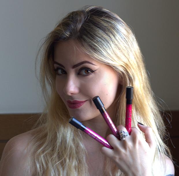 Batom Líquido Matte Longa Duração - M.N Menow Generation 24horas jackysimionato resenha blog maquiagem makeup rosa nude vermelho red labios