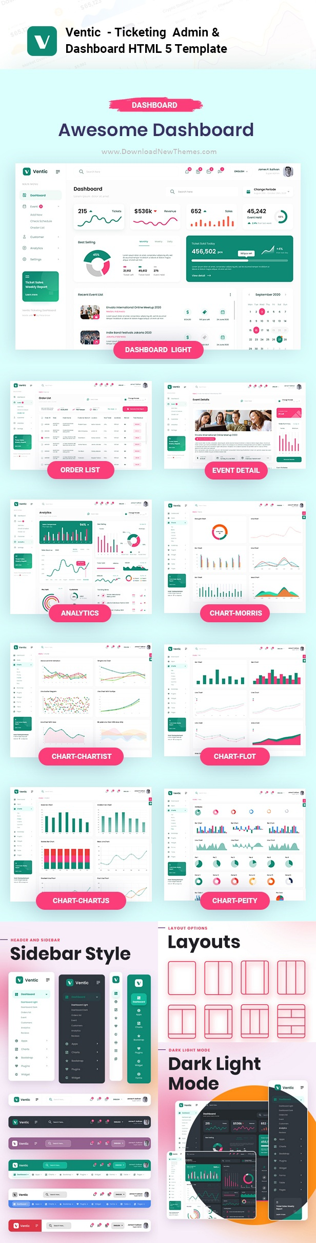 Event Ticketing Bootstrap Admin Template