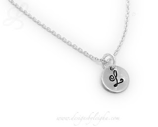 Monogram or Initial Charm Necklace or Bracelet