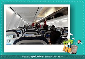 Suasana di dalam pesawat ketka menuju Jakarta