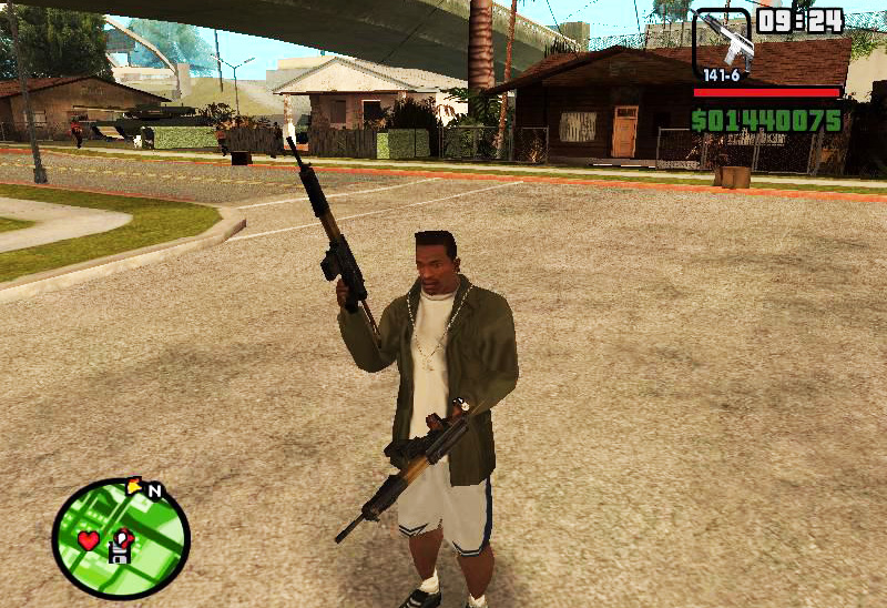 GTA SAN ANDREAS DUAL WIELD ALL WEAPONS MOD PC