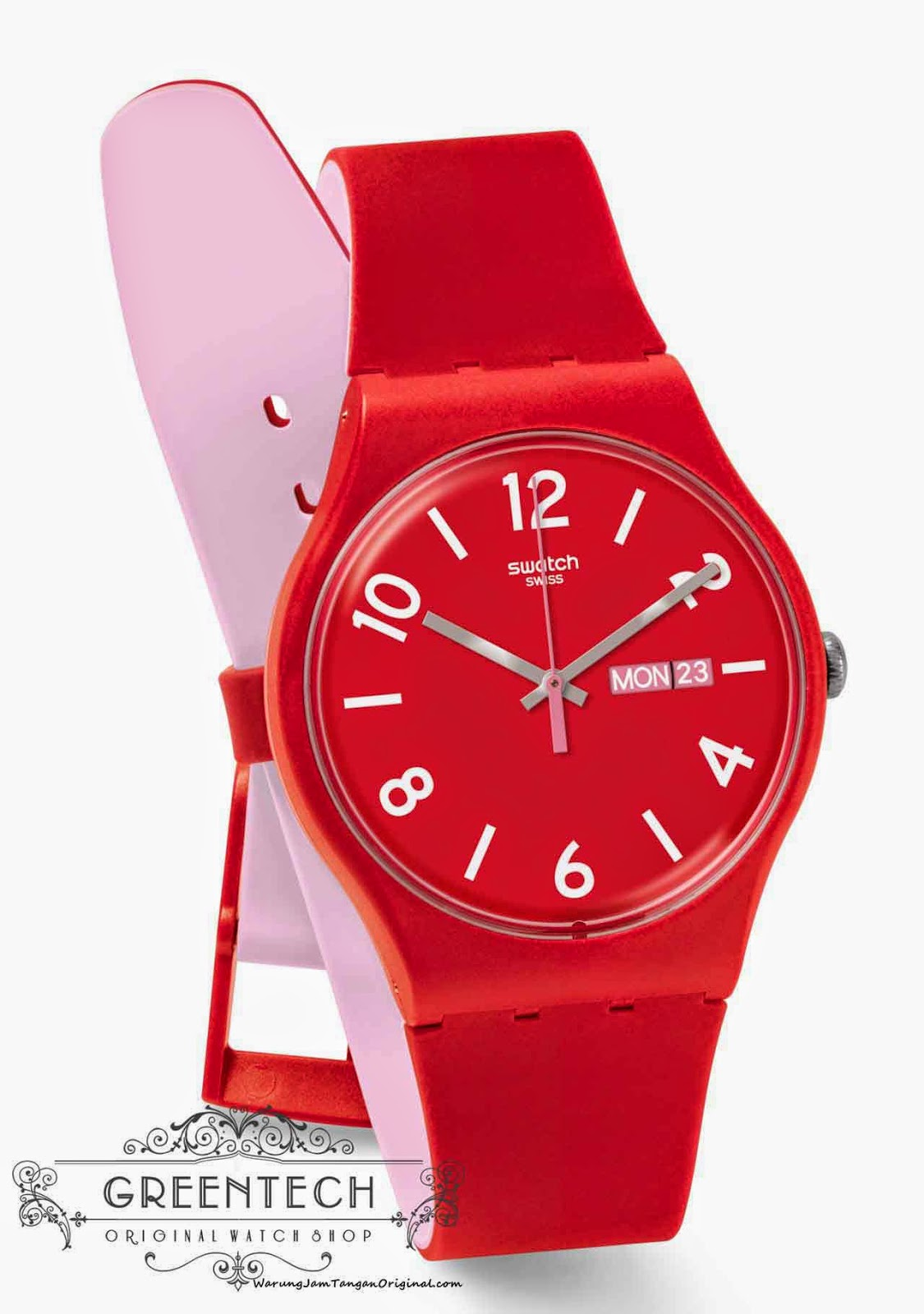 Swatch BACKUP RED SUOR705