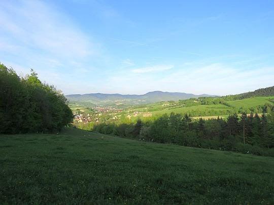 Dolina wsi Przysietnica.