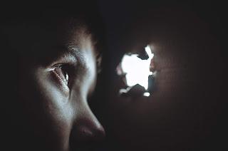 Photo of eyes looking through hole by Dmitry Ratushny on Unsplash