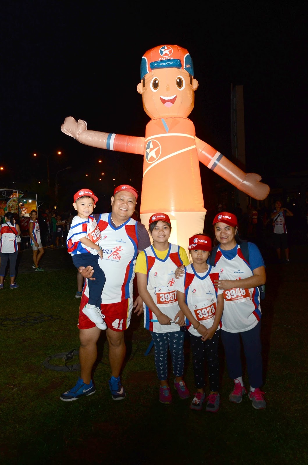 Chevron employee and family participate in the recent 6th AmCham ScholaRUN to help raise scholarship funds for deserving underprivileged students