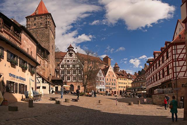 Tiergärtnertor na cidade de Nuremberg na Baviera