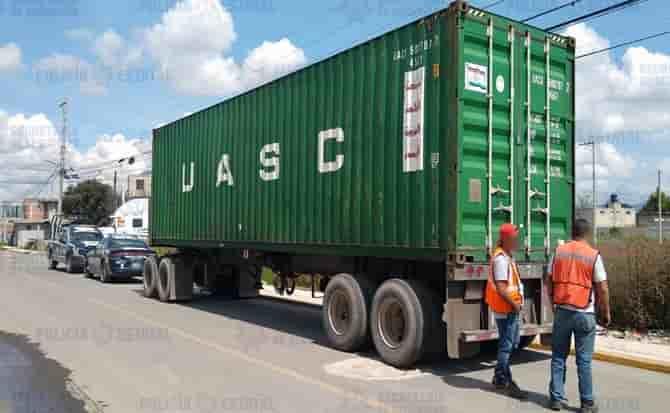 trailer, mercancía, transporte