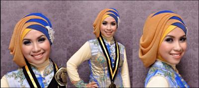 tutorial hijab wisuda model turban