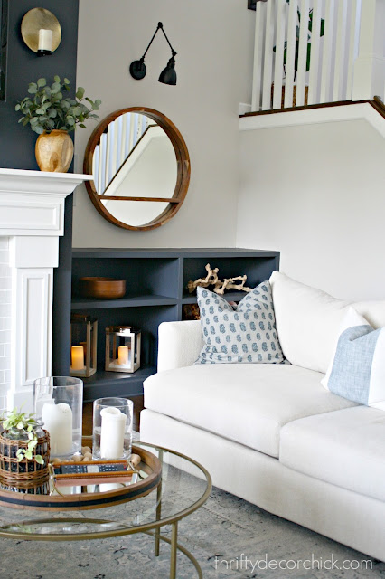 What color to paint built ins by fireplace?