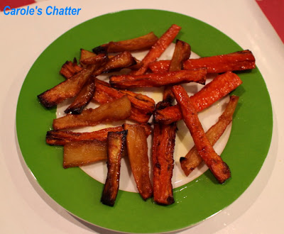 Roasted parsnips & carrots by Carole's Chatter