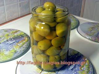 Ελιές πράσινες αχάραχτες - από «Τα φαγητά της γιαγιάς»