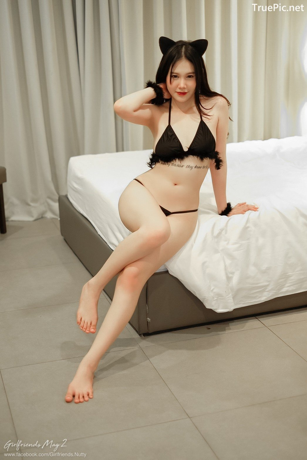 Image Thailand Model - Chanunshida Phuangsombut - Sexy Black Cat - TruePic.net - Picture-9