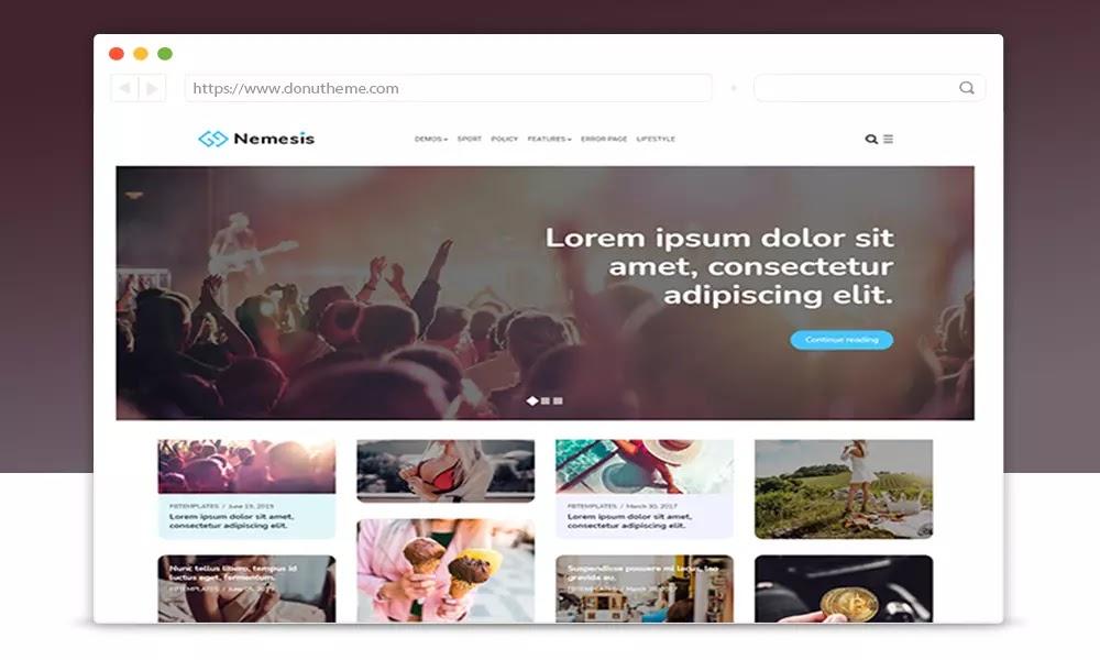 Nemesis V1.2.1 Responsive Minimal Blogger Theme