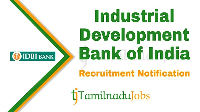 IDBI Recruitment notification of 2019 - for Assistant Manager - 600 post