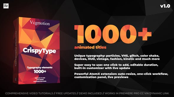 AtomX 1000+ Titles And Typography[Videohive][After Effects][28464847]