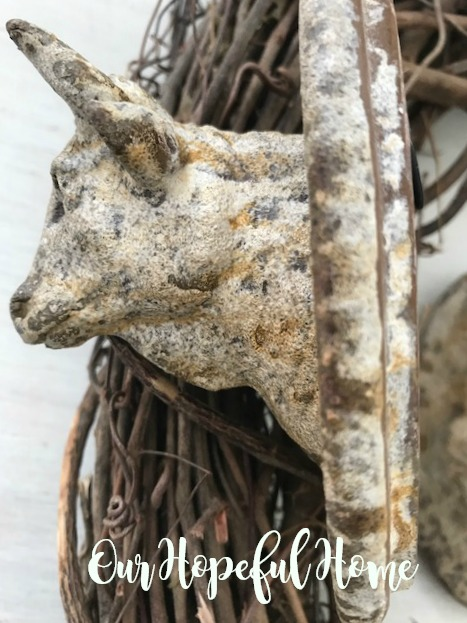 bull cameo plaque